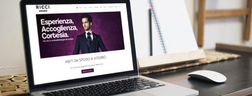 anteprima del nuovo sito di ricci sposo