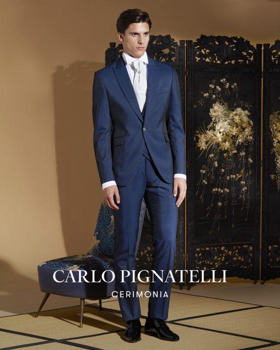 vestito da sposo Carlo Pignatelli 2022. blu Navy.