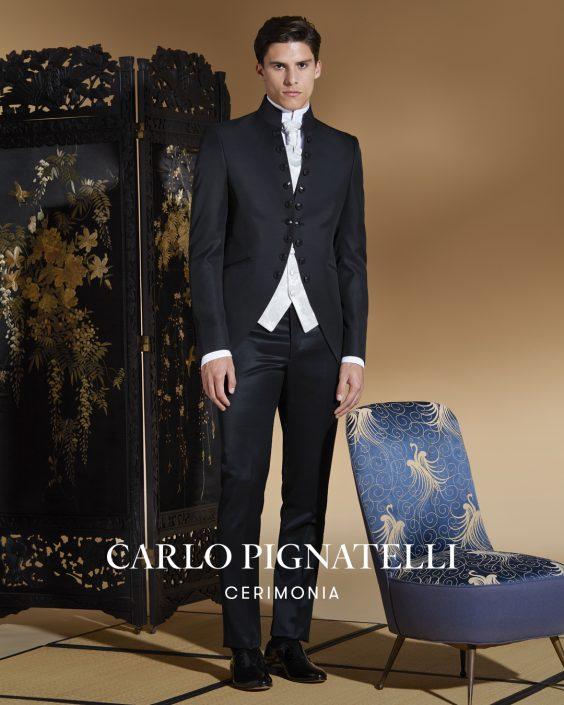abito Carlo Pignatelli stile particolare.